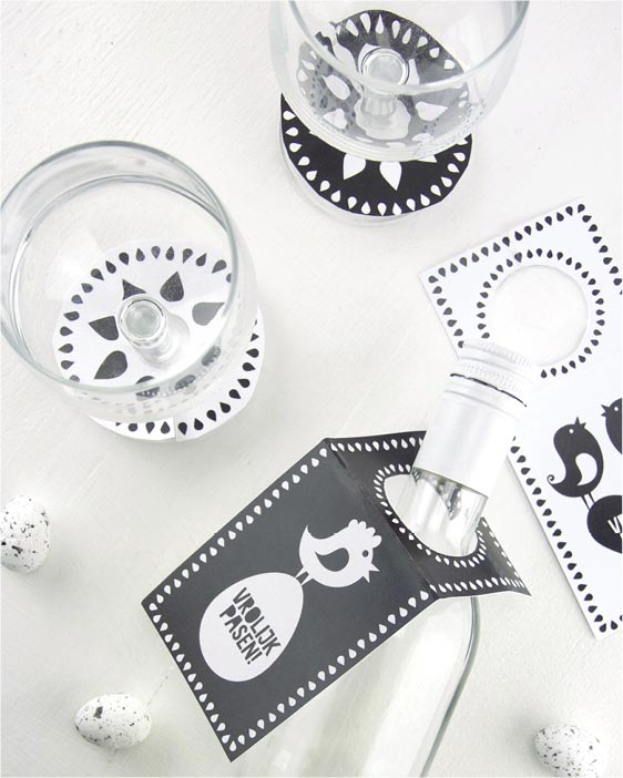 Free Printables Pasen - fleshangers en glas labels