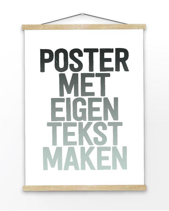 zelf posters maken met eigen tekst