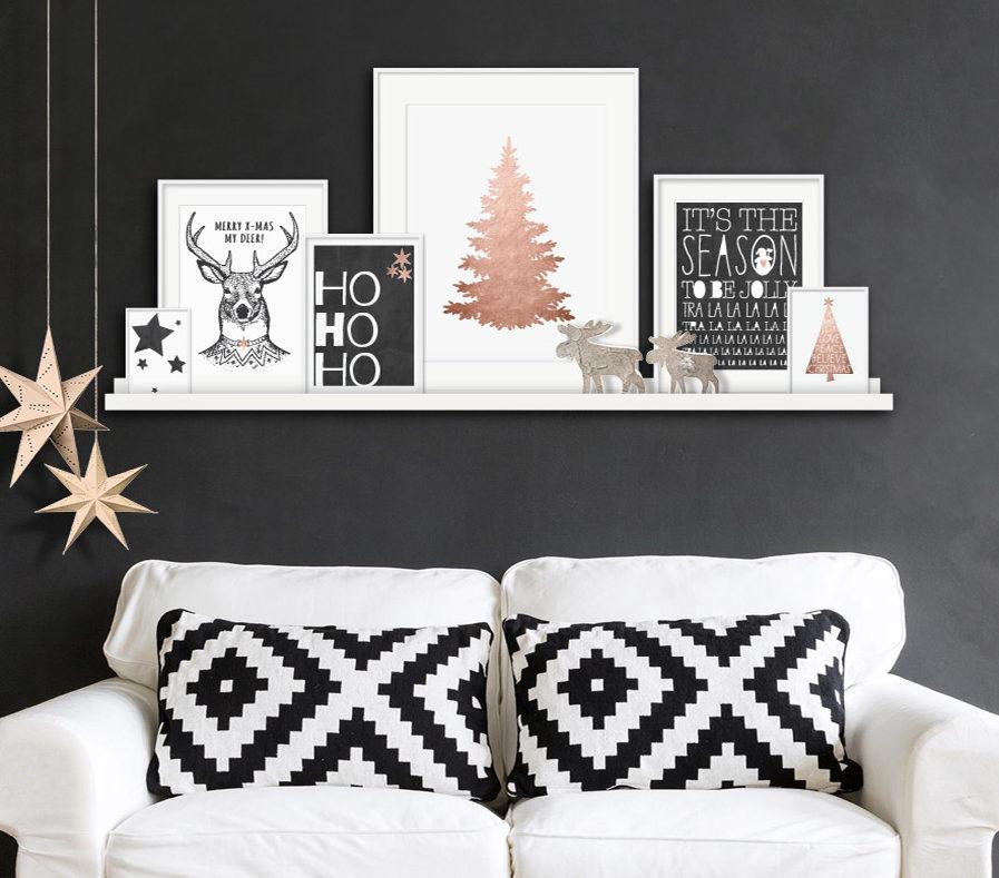 Printcandy Kerst Posters zwart wit
