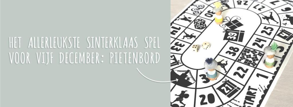 Printable   Sinterklaas-spel Pietenbord   Printcandy