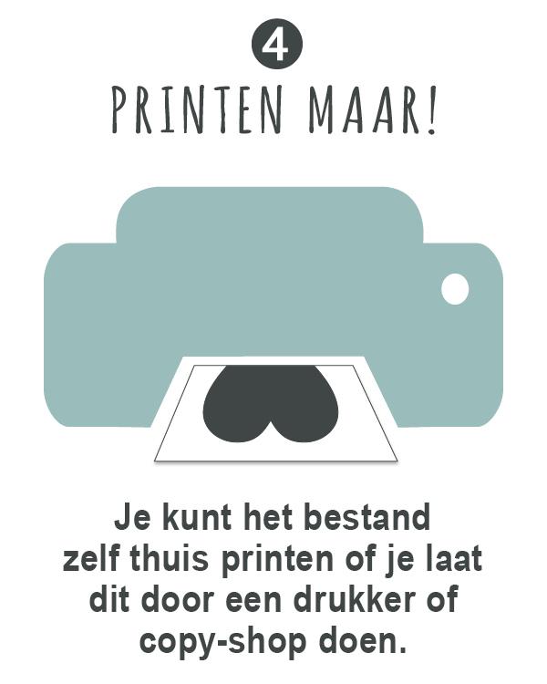 Poster zelf maken bij Printcandy. informatie en uitleg over gepersonaliseerde printables en printable posters