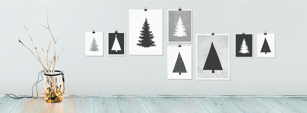 Kerst aan de muur