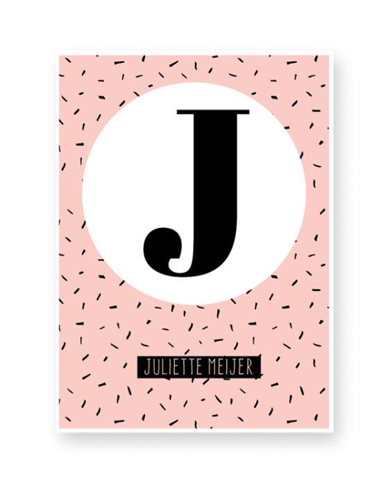 Gepersonaliseerde Letter met naam - Poster zelf maken bij Printcandy