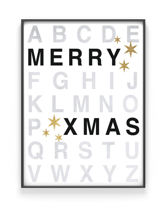Merry X-mas Poster - Kerst poster Printcandy