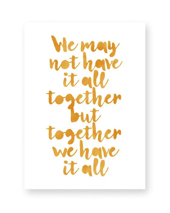 Poster met eigen tekst maken - Online zelf tekstposter maken in zwart-wit of kleur (o.a mint en oker-geel) #printcandy