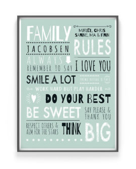 Family Rules Poster | Gepersonaliseerde Familieposter | Printcandy