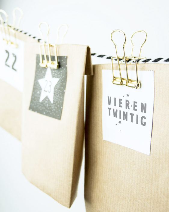Adventskalender - Gratis Kerst Printable