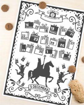 Sinterklaas Printable Aftelkalender   Gratis Sint Schoen Kalender   5 December   Printcandy
