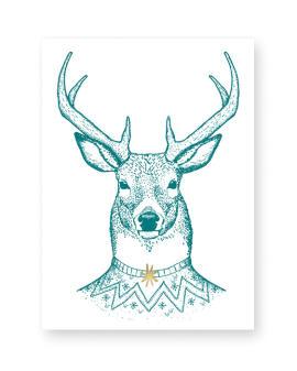 Merry Christmas my Deer Poster - Kerst Poster Hert Printcandy