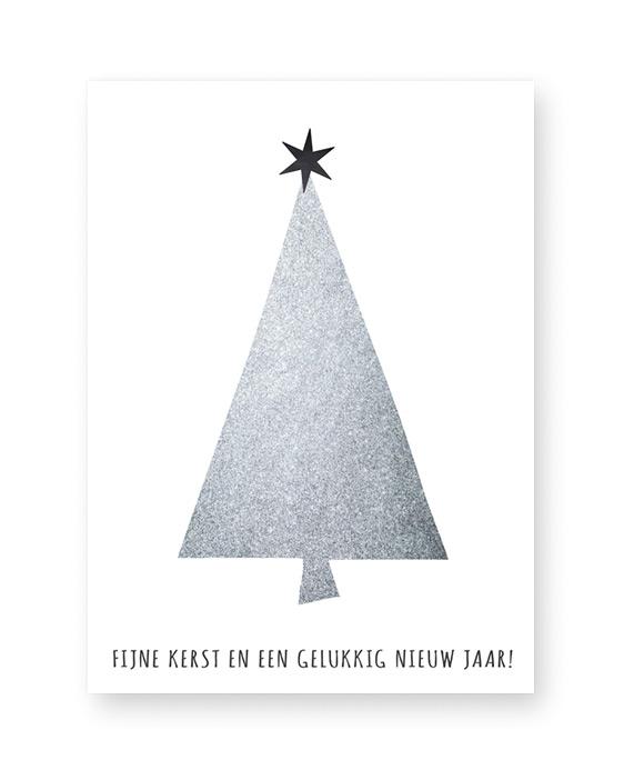 Christmas Tree - zwart-wit of kleur Kerst Poster zelf maken