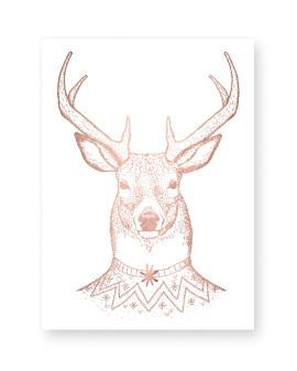 Kerst Poster met Hert - Printcandy - Zelf Poster maken