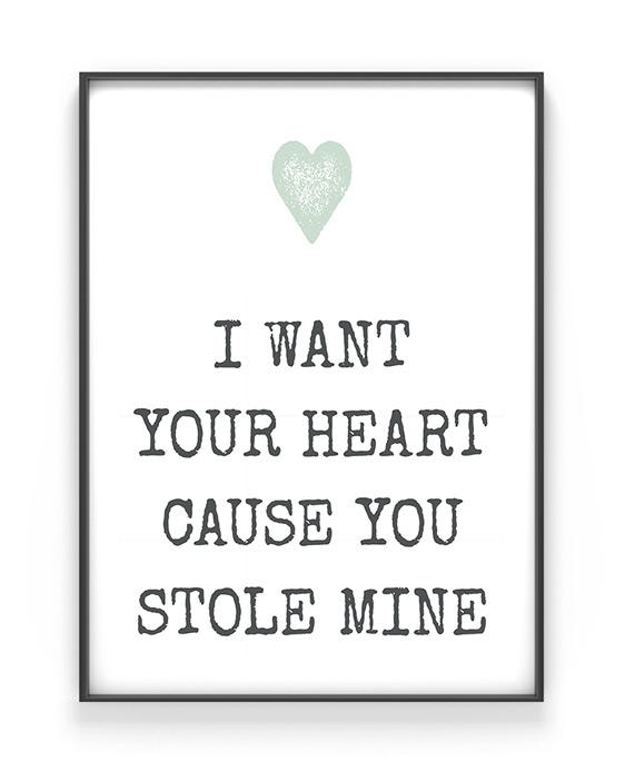 Poster met eigen Citaat - Tekstposter zelf maken - Liefde