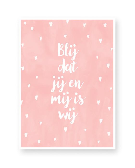 Schrijf je eigen quote - stipjes - tekstposter met eigen tekst zelf maken bij Printcandy