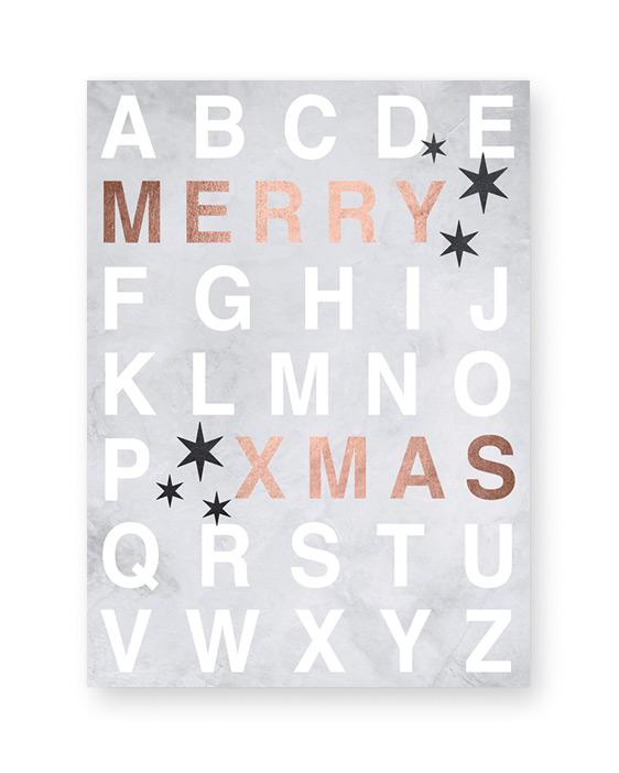 Merry X-mas Poster - Kerst poster online customizen bij Printcandy
