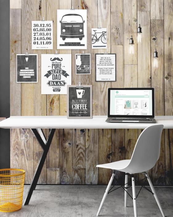 zwart wit posters maken - Online posters maken bij Printcandy. Typografische en illustratieve posters met eigen tekst in zwart wit of met kleur