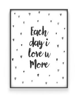 Confetti Poster met eigen tekst - zwart-wit stipjes - monochroom - babykamer - printcandy