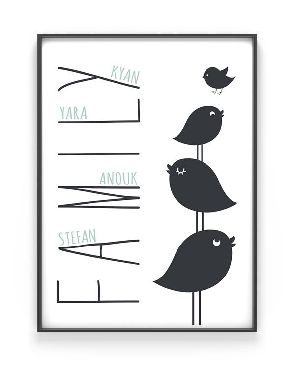 We are Family Print - Gepersonaliseerde poster zelf maken bij Printcandy