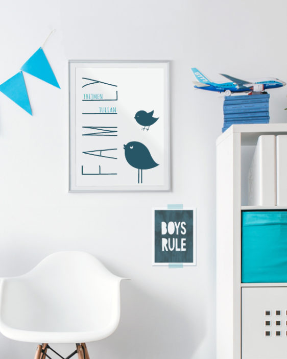 We are Family Print - Kinderkamer Poster -Gepersonaliseerde poster zelf maken bij Printcandy