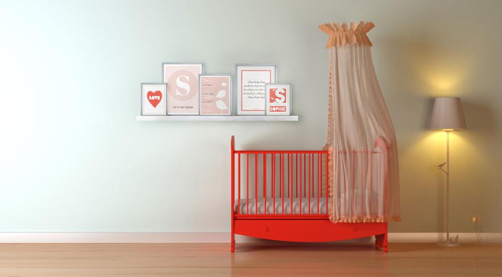 Poster Babykamer Pastel : Collage voor de babykamer in pastel tinten printcandy