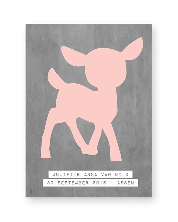 gepersonaliseerd hertje poster voor in de kinderkamer, Deco ideeën