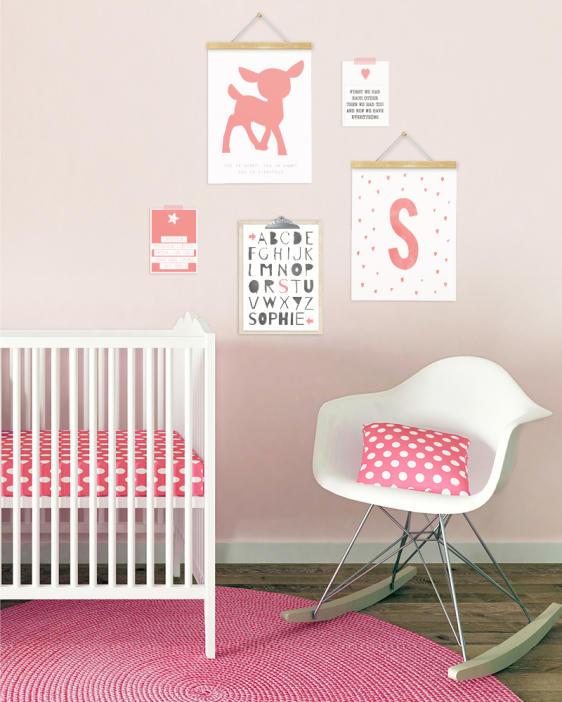 Posters babykamer - Meisje - kinderkamer - zelf online posters maken bij printcandy