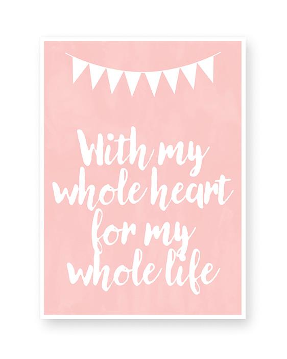 Poster met eigen tekst maken | Liefde | Quote | Valentijn | Roze