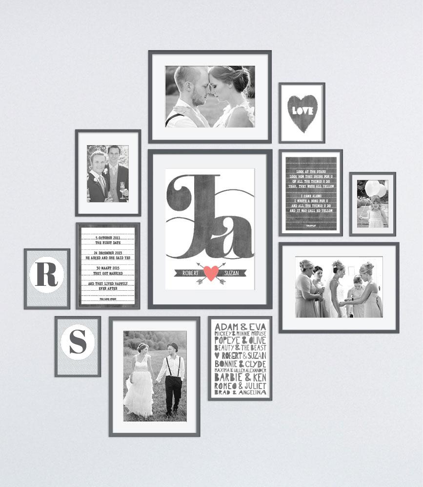 Collage met trouwfoto u0026#39;s   Maak je eigen trouwcollage   Printcandy