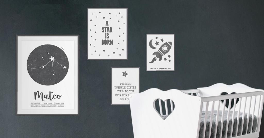 Monochroom Baby - Zwart-wit posters voor de baby- en kinderkamer