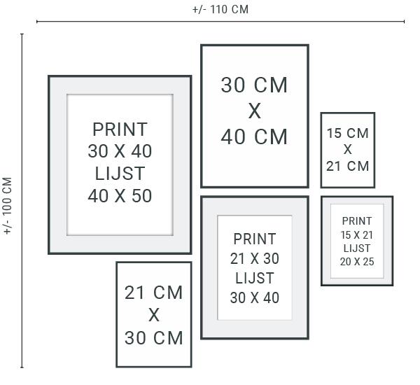 Fonkelnieuw Muurcollage maken - Tips & Trucs en gratis stramien - Printcandy VI-06
