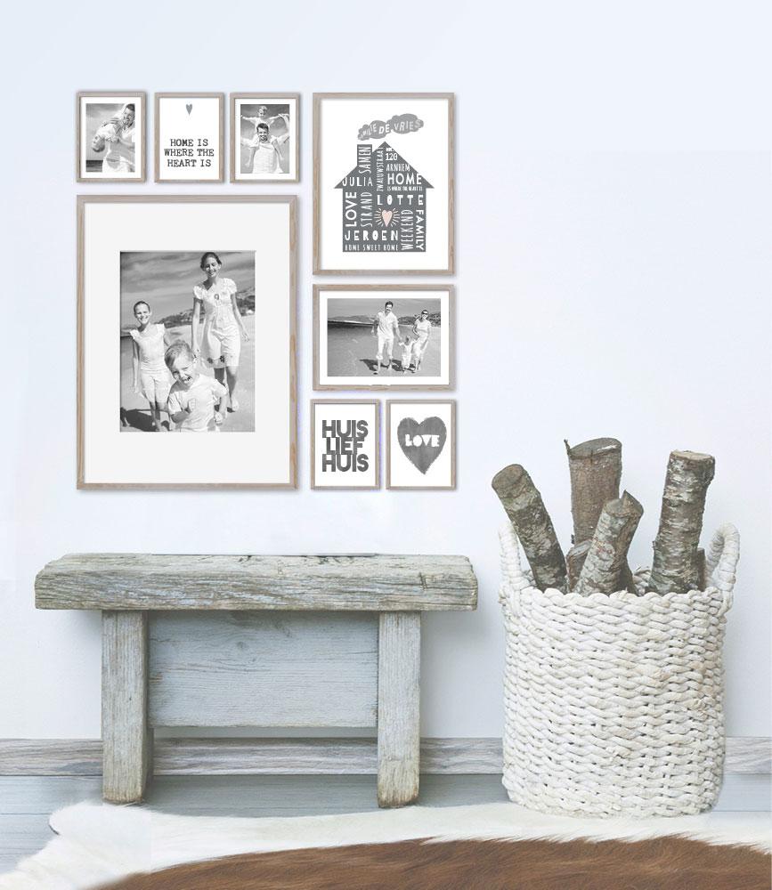 muur collage met foto 39 s van je familie printcandy. Black Bedroom Furniture Sets. Home Design Ideas