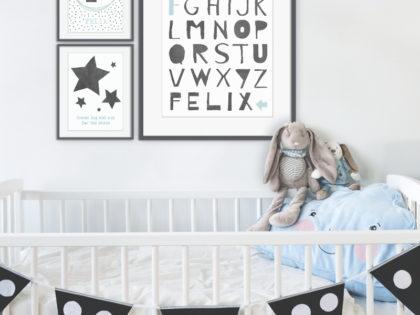 Muurcollage Babykamer