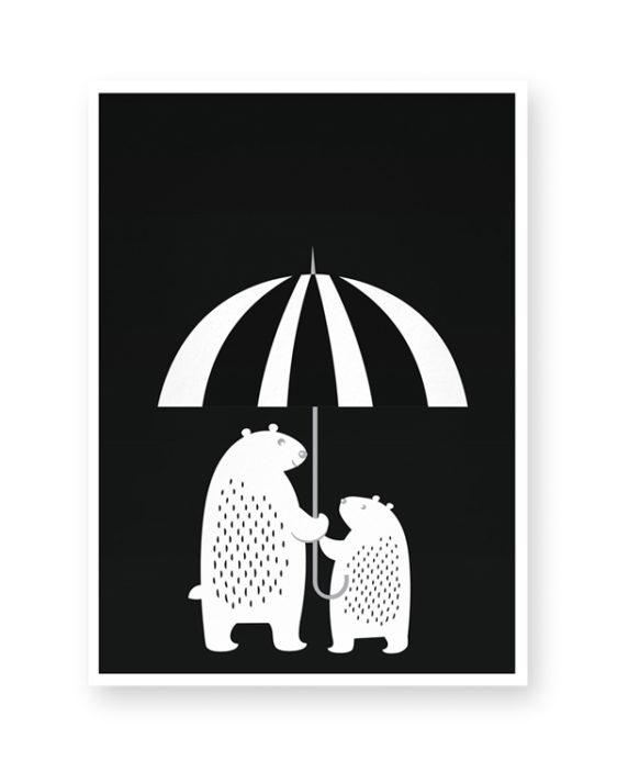 kinderkamer poster beren - zelf online maken: poster kinderkamer zwart-wit of kleur
