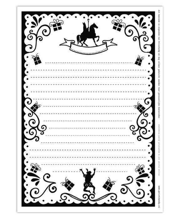 Sint Printable Brief - Gratis sinterklaas printables van Printcandy
