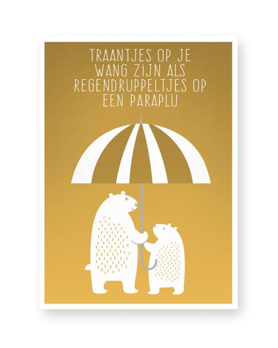 kinderkamer poster beren - Zelf online poster maken voor de kinderkamer in zwart-wit of kleur