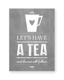 Tea Coffee Poster - Zwart-Wit Keuken Poster zelf maken bij Printcandy