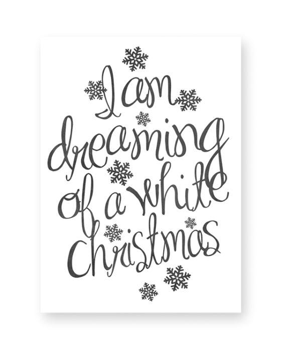 Zwart-Wit Kerst poster collage - 6 x-mas art-prints - Kerst Quote