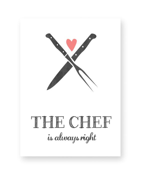 Posters en Art-Prints voor in de Keuken met eigen tekst - in Zwart-Wit of kleur
