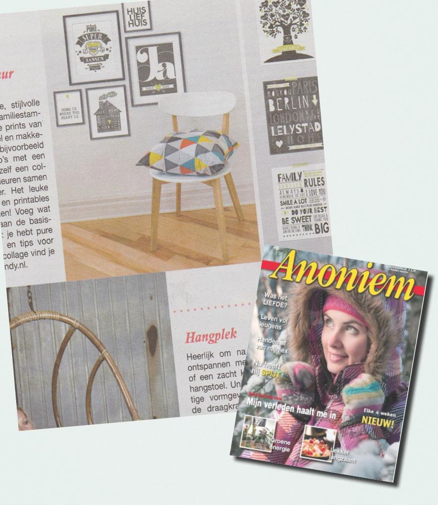 PrintCandy in de media gespot: Anoniem Magazine
