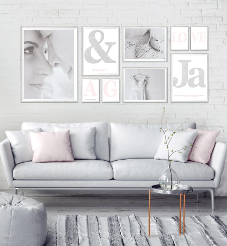 Collage met trouwfoto\'s - Maak je eigen trouwcollage - Printcandy