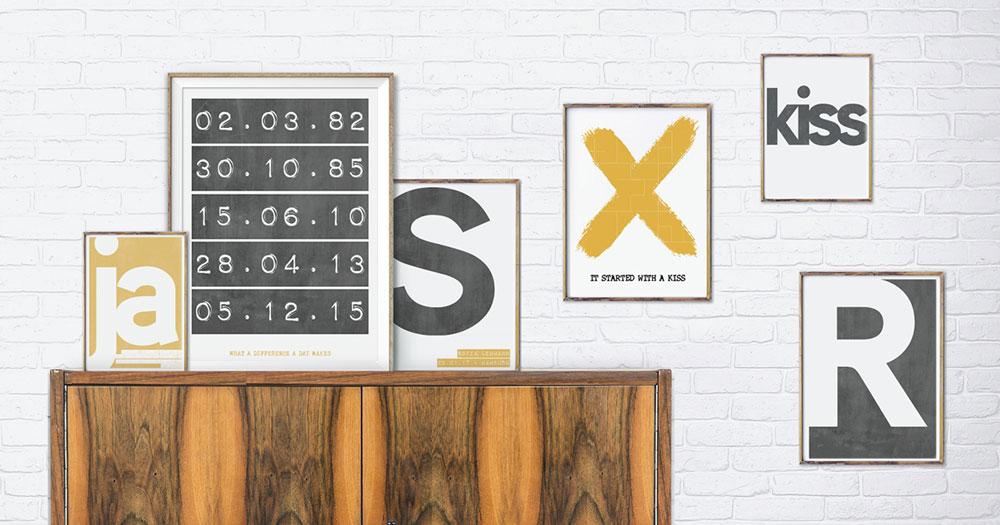 Posters met letters en cijfers zelf online maken - Printcandy