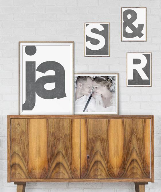 Posters met letters en cijfers - letterposter gepersonaliseerd - Printcandy