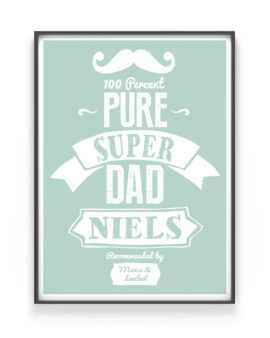 Vaderdag Poster Superdad - Origineel Vaderdag Cadeau 2017