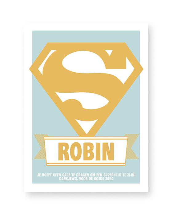 Superheld poster gepersonaliseerd met naam | Printcandy