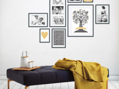 'Family' muur collage met foto's