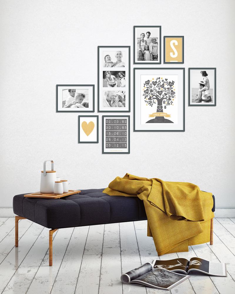 Muur collage met foto\'s van je familie - Printcandy