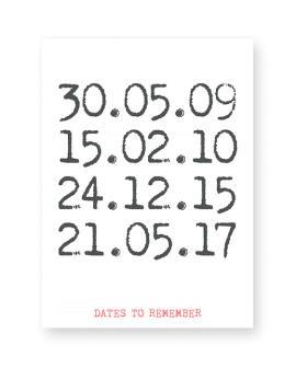 special dates - zwart-wit poster met datum en eigen tekst