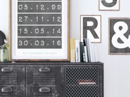 Posters met letters en cijfers