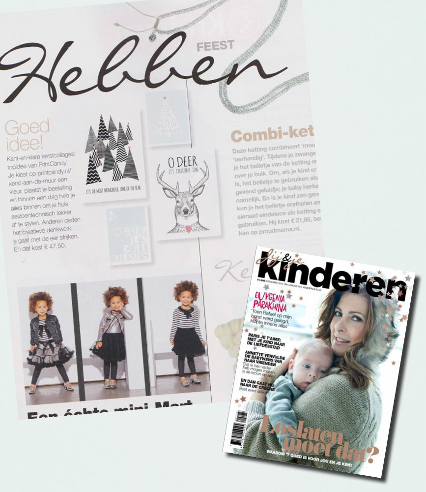 PrintCandy in de media gespot: Kinderen Magazine