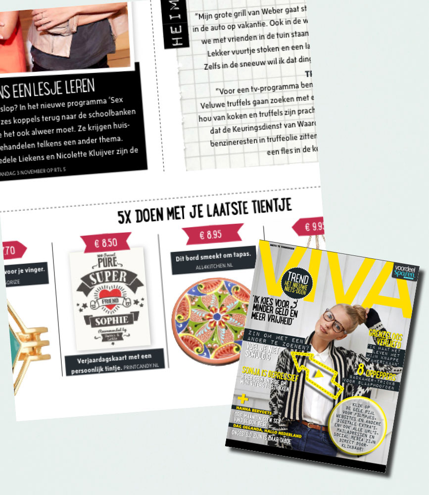 PrintCandy in de media gespot: Viva magazine