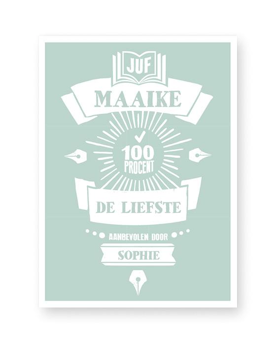Gepersonaliseerde Poster als Cadeautje voor juf en meester